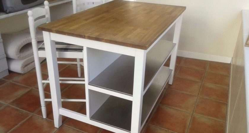 Ikea Stenstorp Kitchen Island Unit Bar Chairs