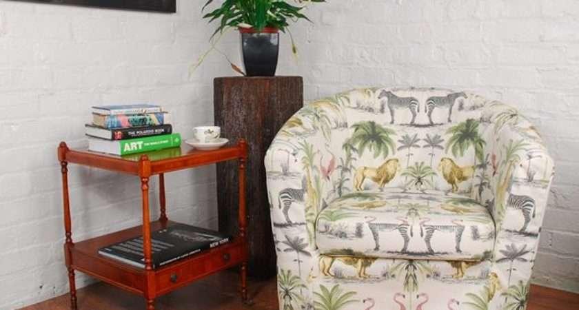 Ikea Tullsta Tub Chair Cover Safari Print Cotton