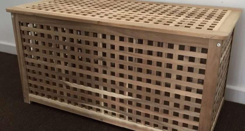 Ikea Wooden Storage Chest Box Excellent Condition