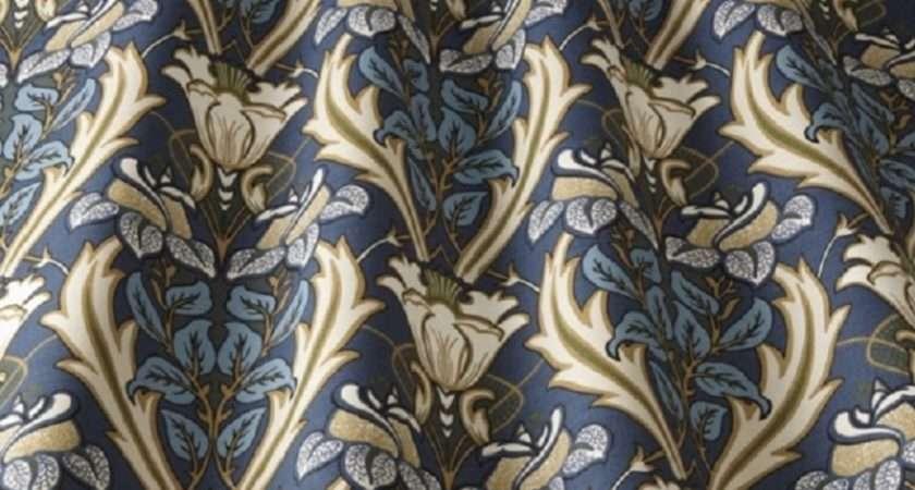 Iliv Acanthus Curtain Fabric Navy