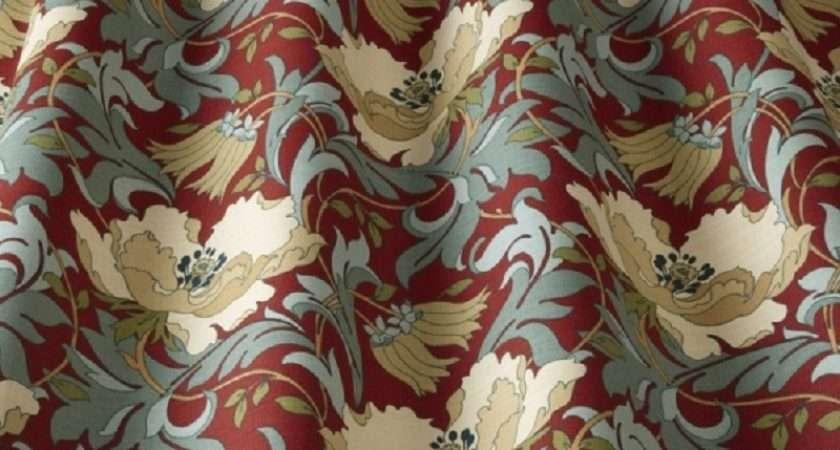 Iliv Art Deco Curtain Fabric Cherry
