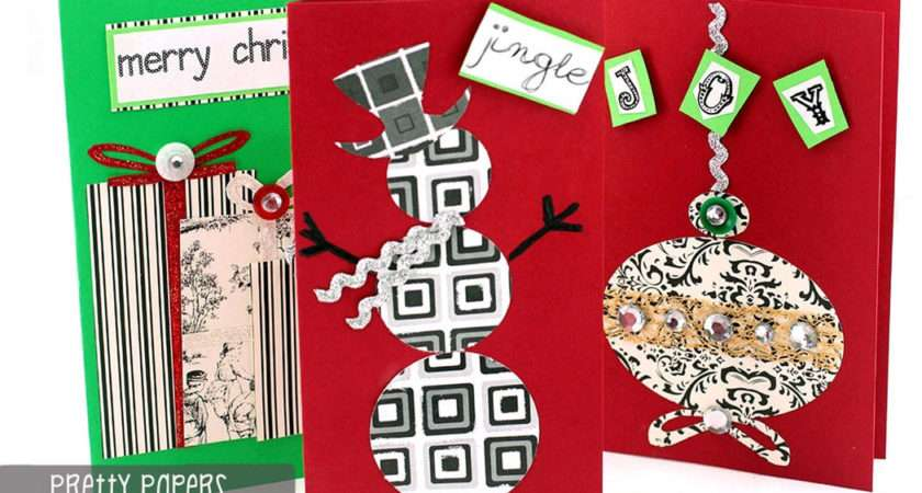 Ilovetocreate Blog Make Pretty Papers Diy Christmas Cards