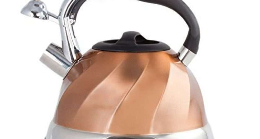 Imperial Home Whistling Tea Kettle Stainless Steel Copper