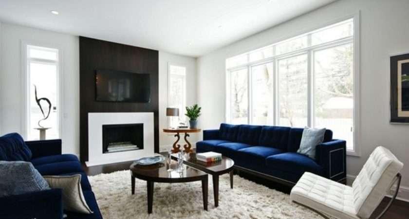 Impressive Blue Sofa Living Room Home Design Lover