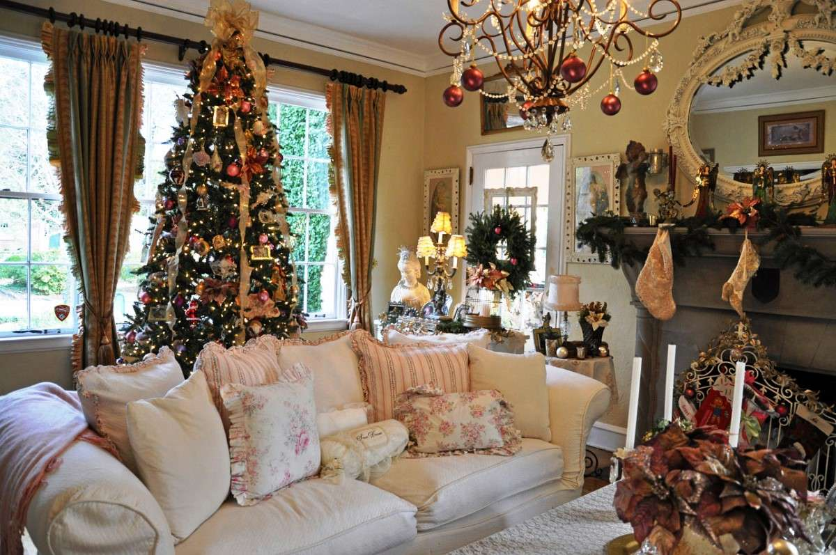 Impressive Christmas Living Room Decor Ideas Suzy