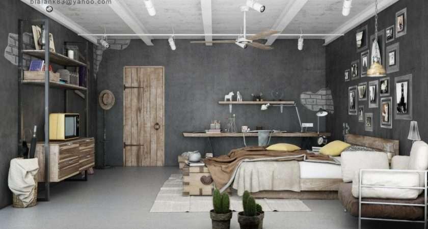 Industrial Bedrooms Interior Design Decorating