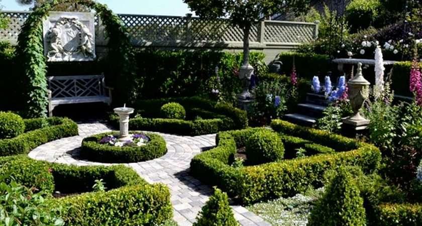 Informal English Garden Formal French