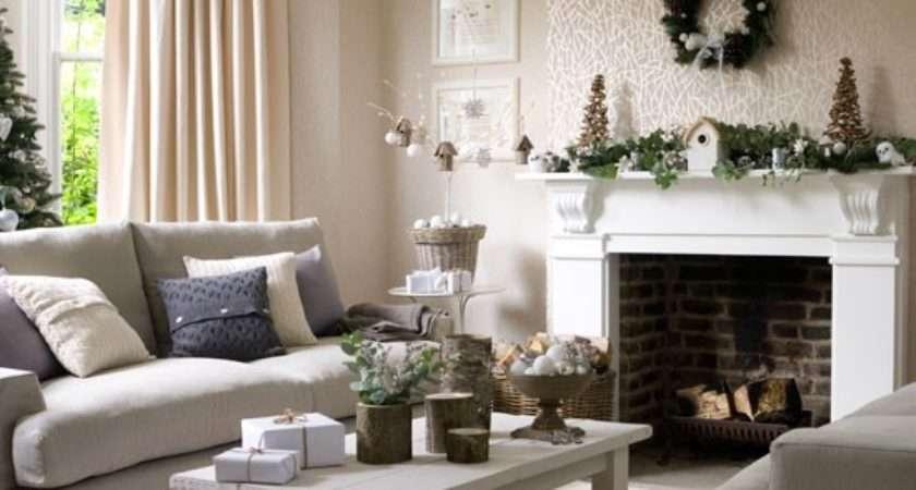 Inspiring Christmas Shabby Chic Living Room Decorating