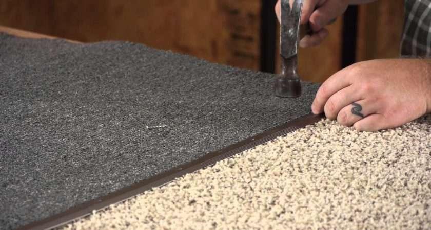 Install Metal Carpet Threshold Flooring Youtube