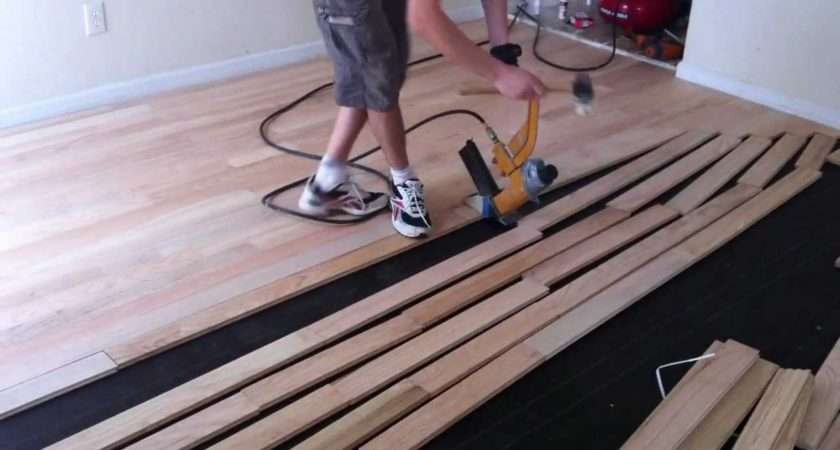 Install Nail Down Unfinished Hardwood Floors