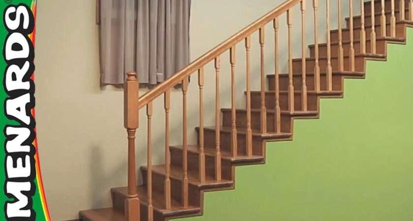 Installing Stair Rails Menards Youtube