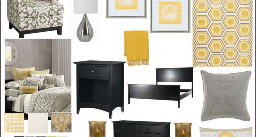 Instant Room Yellow Grey Bedroom