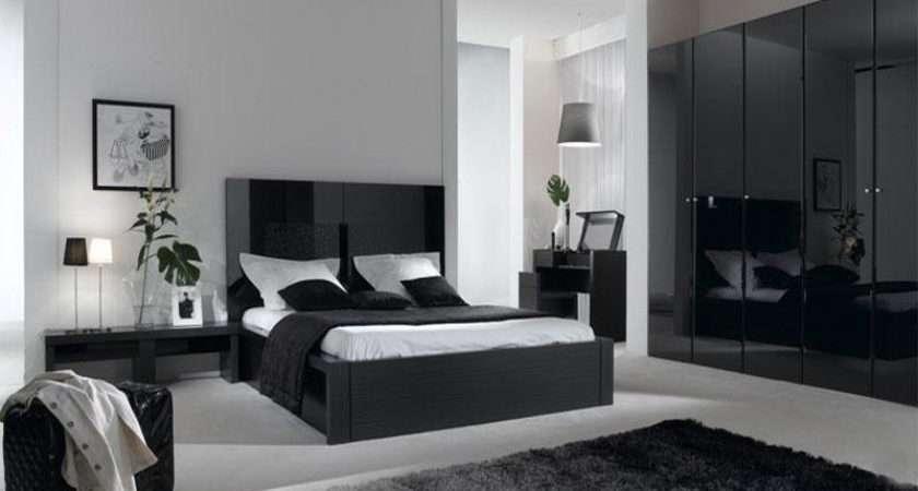 Interior Bedroom Shades Color Grey Decoration