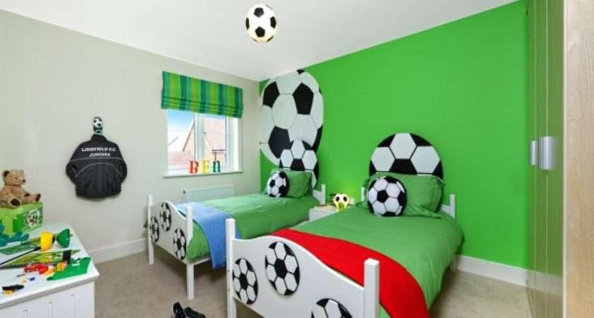 Interior Design Bed Football Themed Boys Bedroom
