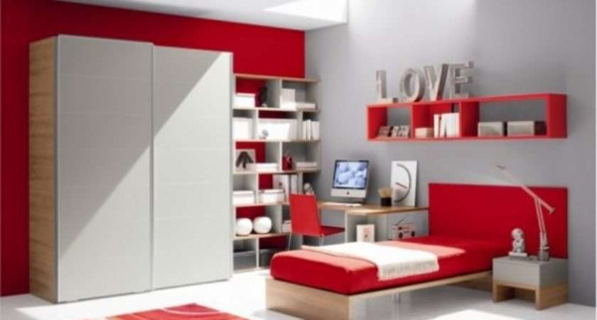 Interior Design Blog White Red Attractive Bedroom Designs