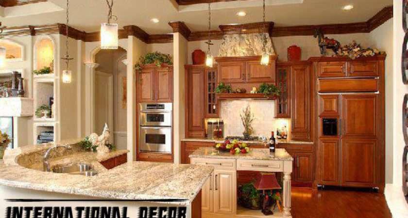 Interior Design Classic Wood Kitchen Cabinets