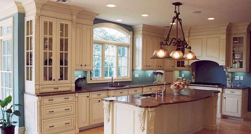 Interior Design Decorating Elegant Kitchen Cabinet Island