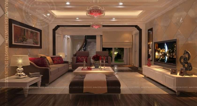 Interior Design Living Room Dining Kitchen Home Kerala