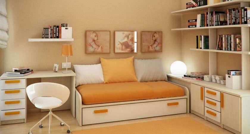 Interior Design Study Room Sergi Mengot Orange Style