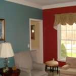 Interior Wall Painting Red Colour Combinations Room