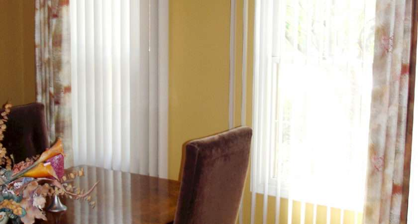 Interior Wonderful Curtains Over Vertical Blinds Ideas