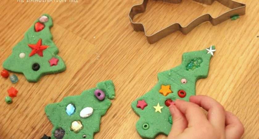 Invitation Decorate Play Dough Christmas Trees Easy