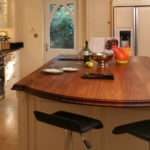 Iroko Worktop Breakfast Bar Bordercraft