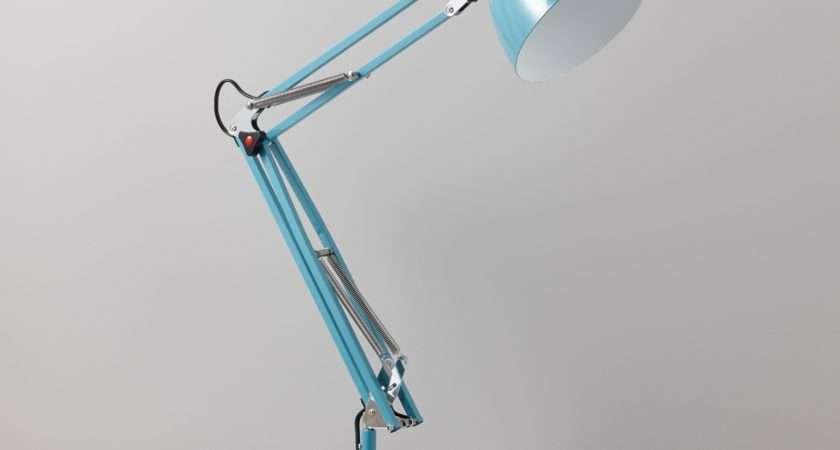 Isaac Blue Desk Lamp Departments Diy