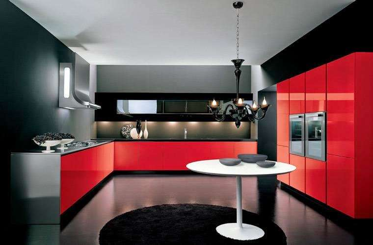 Italian Kitchen Designs Ideas Sets Red Black Kitchens