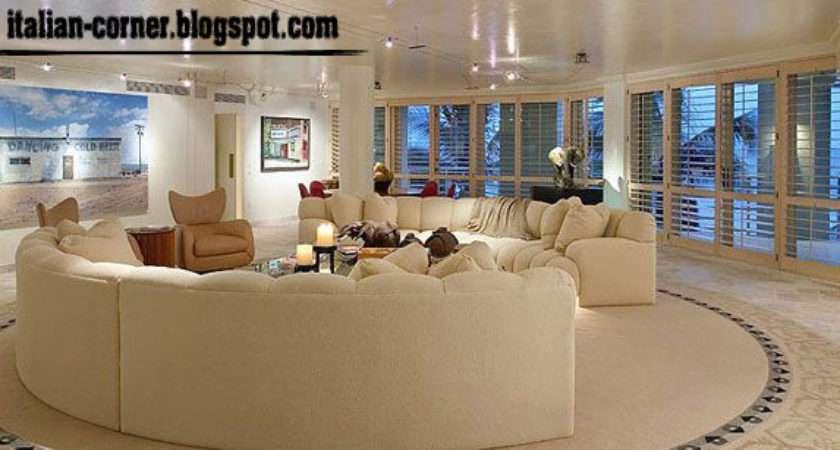 Italian Living Room Designs Ideas Round Sofas