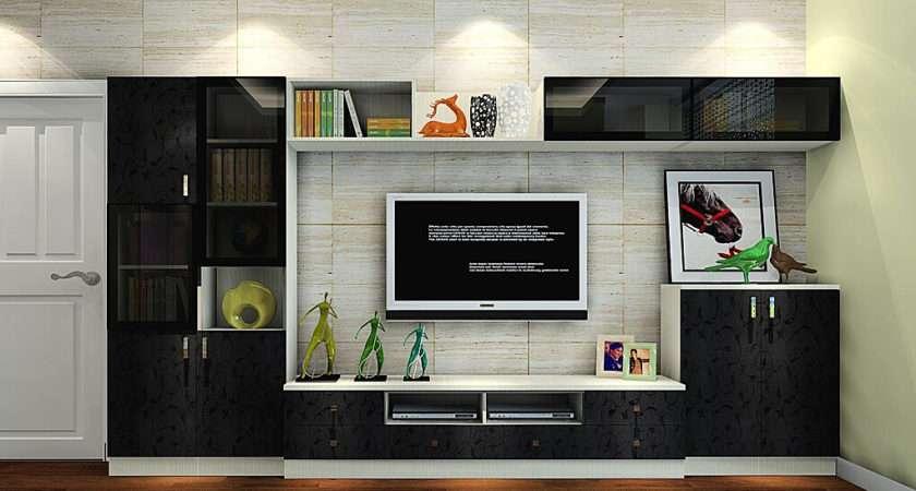 Italy Living Room Black Cabinet Brick