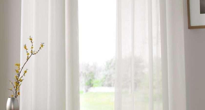 Ivory Plain Voile Eyelet Ringtop Curtain