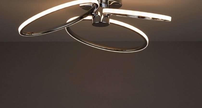 Jago Led Chrome Effect Lamp Ceiling Light Departments