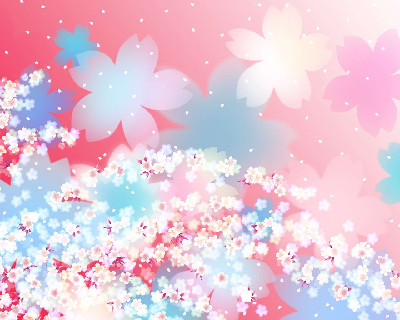 Japanese Style Sweet Flower Pattern Design