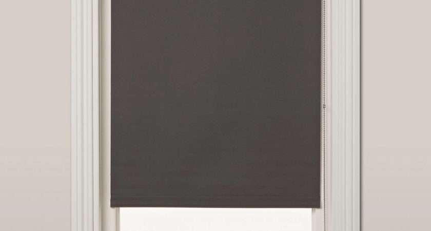 John Lewis Blackout Roller Blind Steel