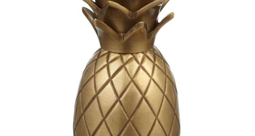 John Lewis Brass Pineapple Candle Holder Bluewater