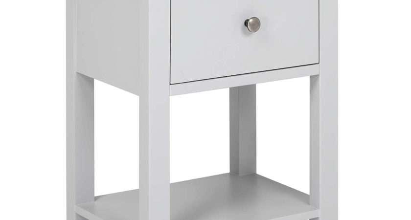 John Lewis Darton Bedside Table Grey