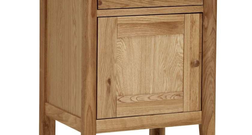 John Lewis Essence Door Bedside Table Oak