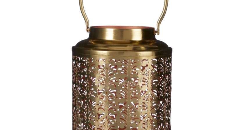 John Lewis Fusion Etched Copper Inner Lantern Gold