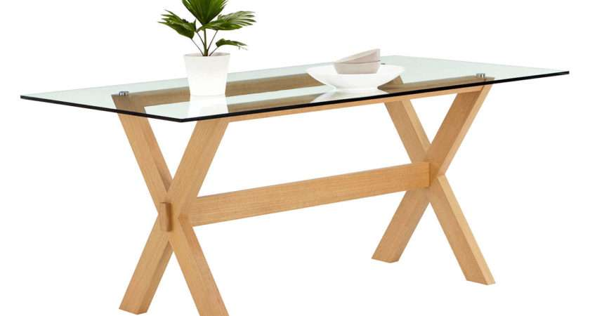 John Lewis Lydia Glass Top Dining Table