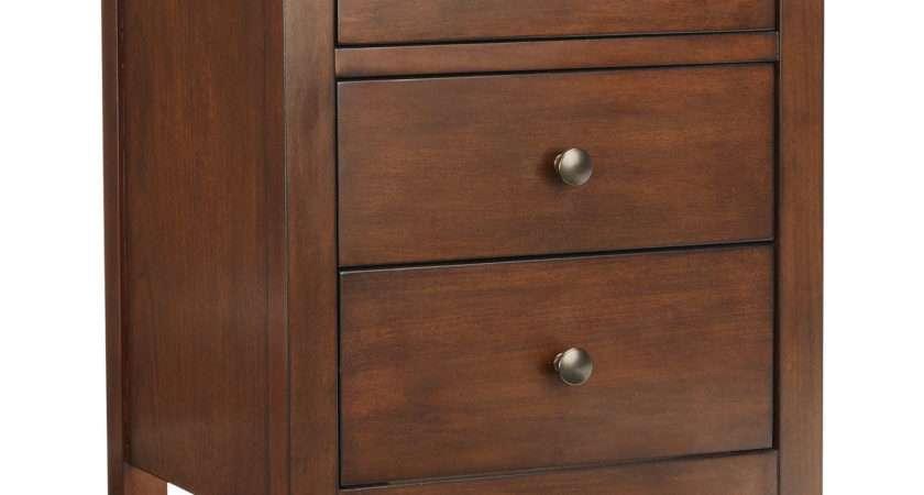 John Lewis Medan Drawer Bedside Table Dark Wood