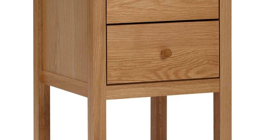 John Lewis Morgan Drawer Bedside Table Oak