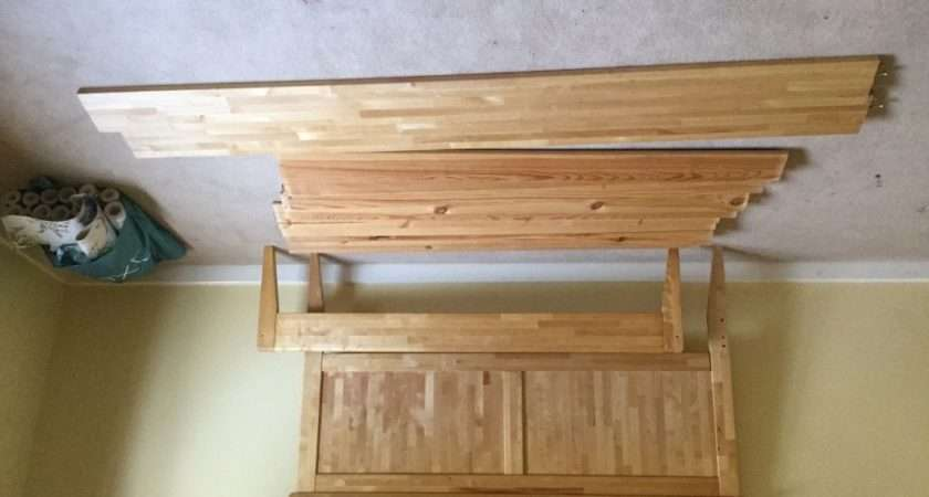 John Lewis Nearly New Solid Beech King Bed Frame Wooden Slats
