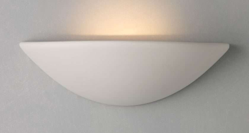 John Lewis Radius Uplighter Wall Light White Bluewater