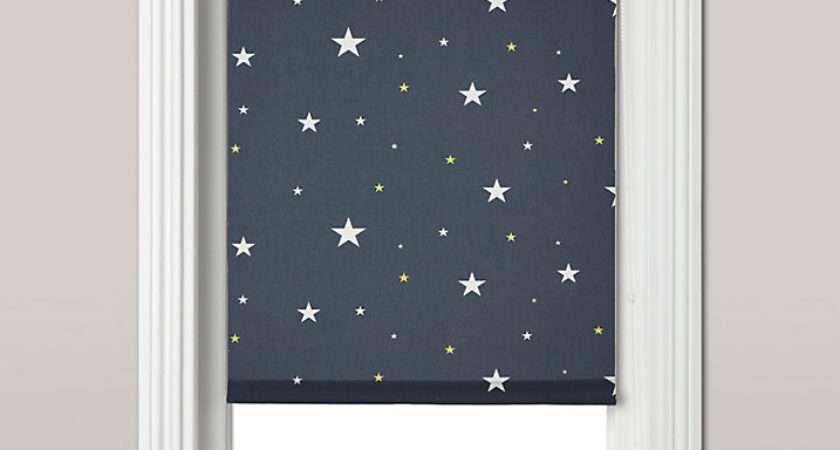 John Lewis Starry Night Blackout Roller Blind Navy Home