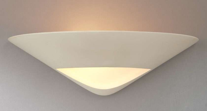 John Lewis Tessa Uplighter Wall Light White