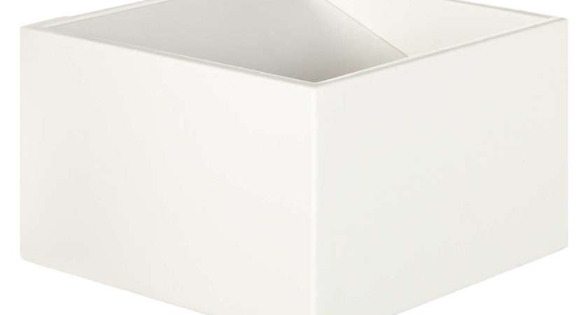 John Lewis Vector Led Uplighter Cube Wall Light White