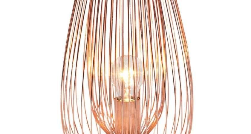 Jonas Copper Effect Table Lamp Departments Diy