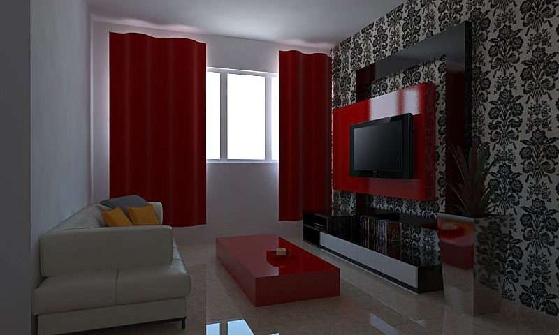 Jpeg Hdb Living Room Feature Wall Dining