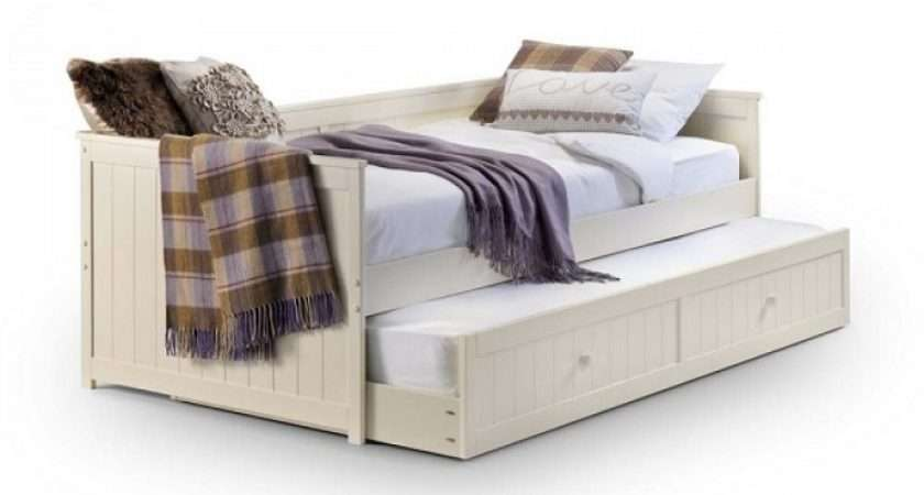 Julian Bowen Jessica Stone White Wooden Day Bed Underbed